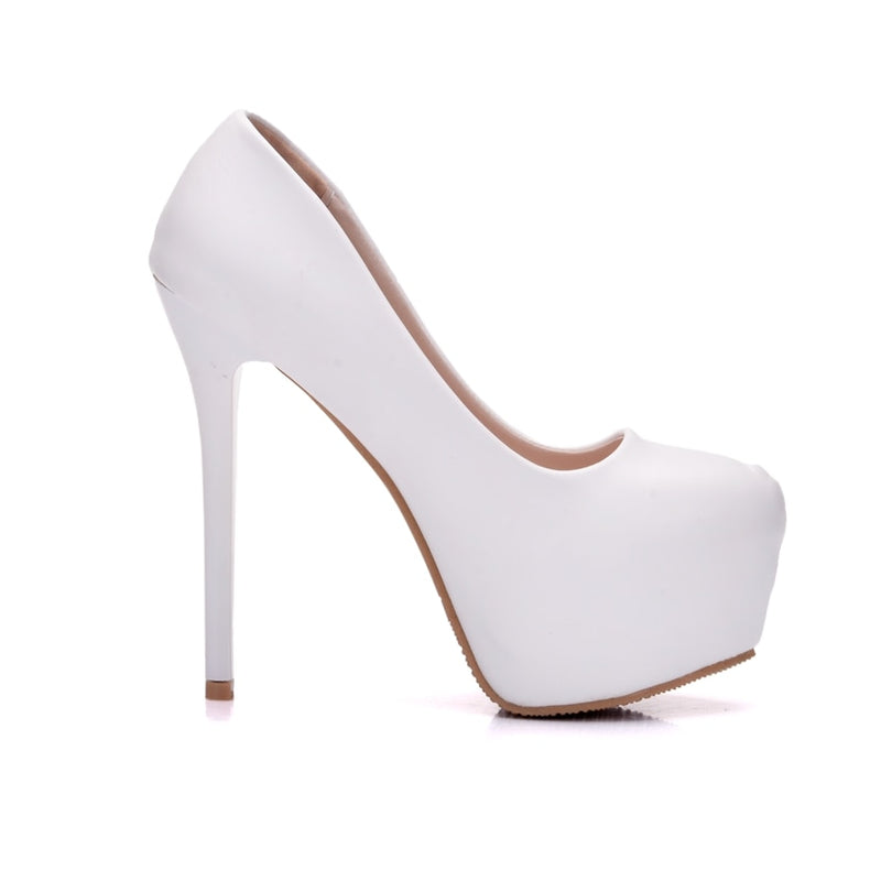 Round Toe Platform Ladies Pumps - Jance Samantha Beauty & Fashion
