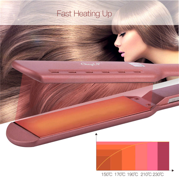 Professional Titanium Flat Iron Electric Straightening Hair - Jance Samantha Beauty & Fashion