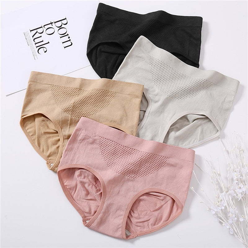 Breathable Cotton Soft  Low Waist  Brief Super Elastic Panties - Jance Samantha Beauty & Fashion
