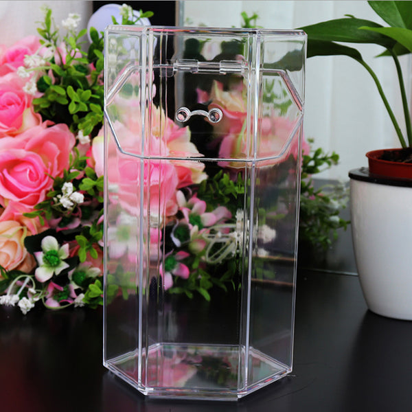 Acrylic Clear Makeup Brush Storage - Jance Samantha Beauty & Fashion