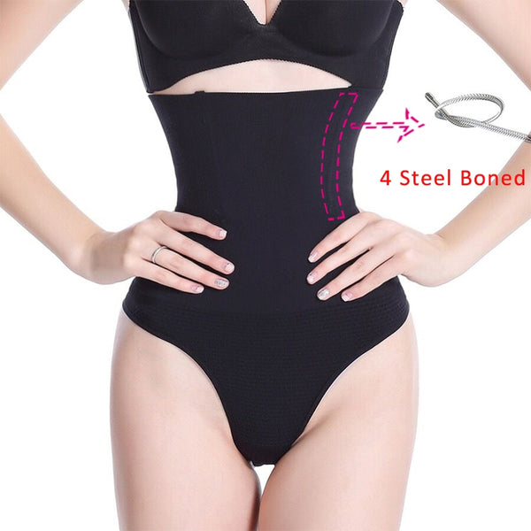 High Waist Tummy Control Seamless Thong Girdle - Jance Samantha Beauty & Fashion