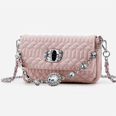Pouch Crystal Diamond Leather Shoulder Bag - Jance Samantha Beauty & Fashion