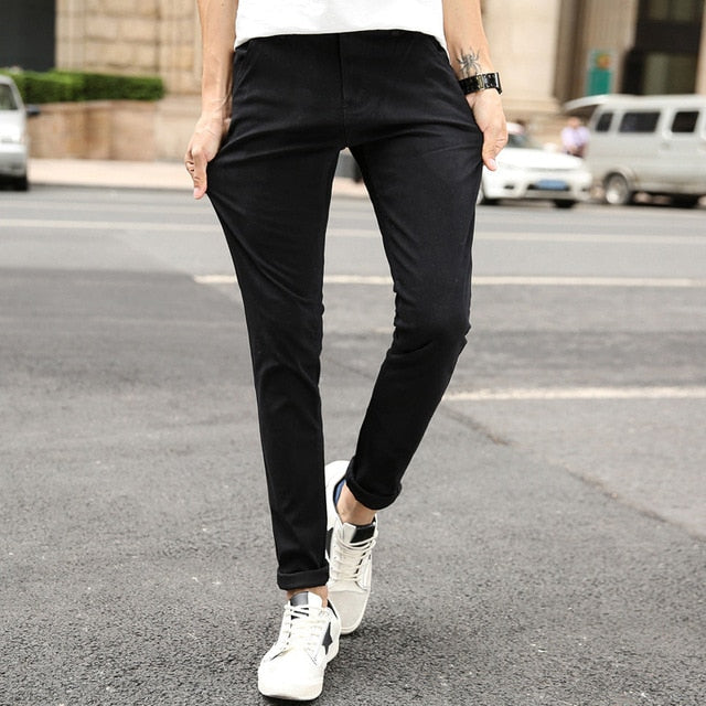 Casual Men's Trousers Stretch  Fashion Pants - Jance Samantha Beauty & Fashion