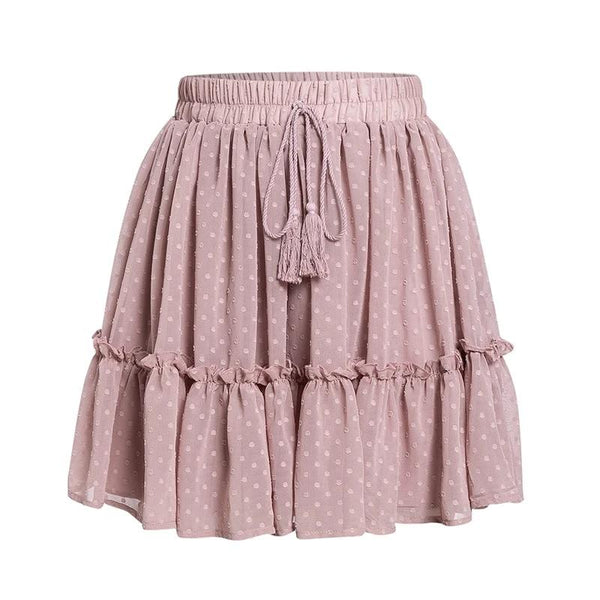 Casual Polka Dot Mini Women Skirt - Jance Samantha Beauty & Fashion