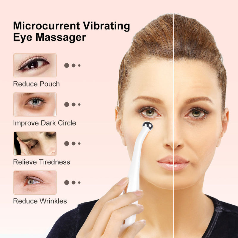 Vibrating Eye Massager Micro-current Eye Wand Negative Ion Importing Frown Lines Remover - Jance Samantha Beauty & Fashion