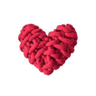 Heart Pillow Knots Cushion - Jance Samantha Beauty & Fashion