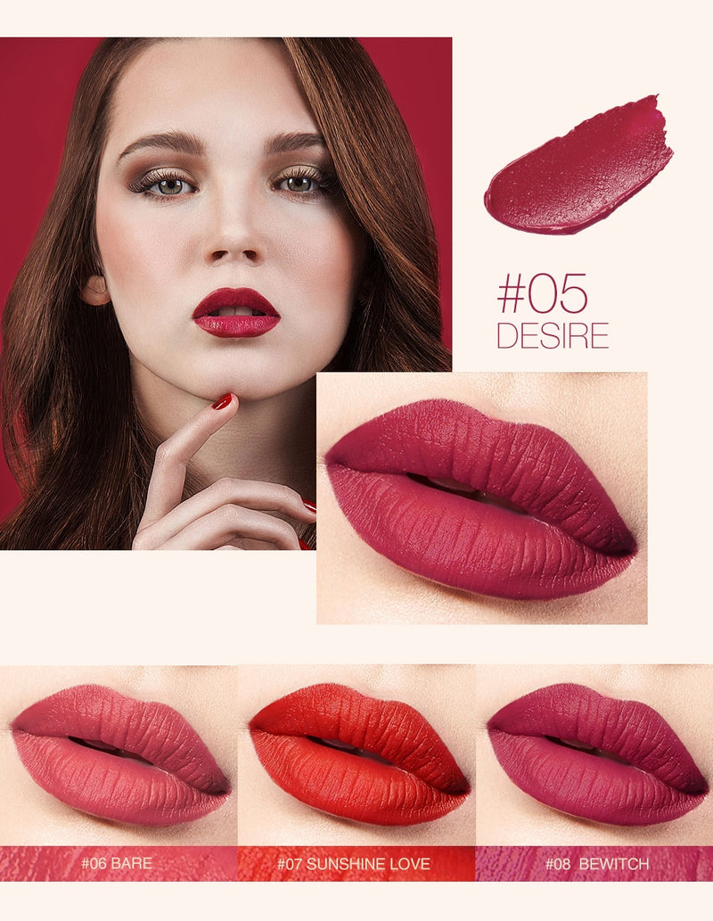Velvet Silky Smooth Texture Long Lasting Waterproof LipStick - Jance Samantha Beauty & Fashion