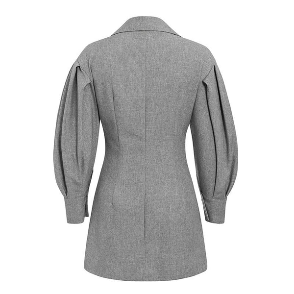 Elegant Pocket Blazer Dress - Jance Samantha Beauty & Fashion