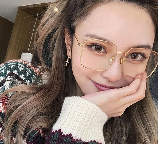 Korean Fashion Square Clear Glasses Transparent Oculos - Jance Samantha Beauty & Fashion