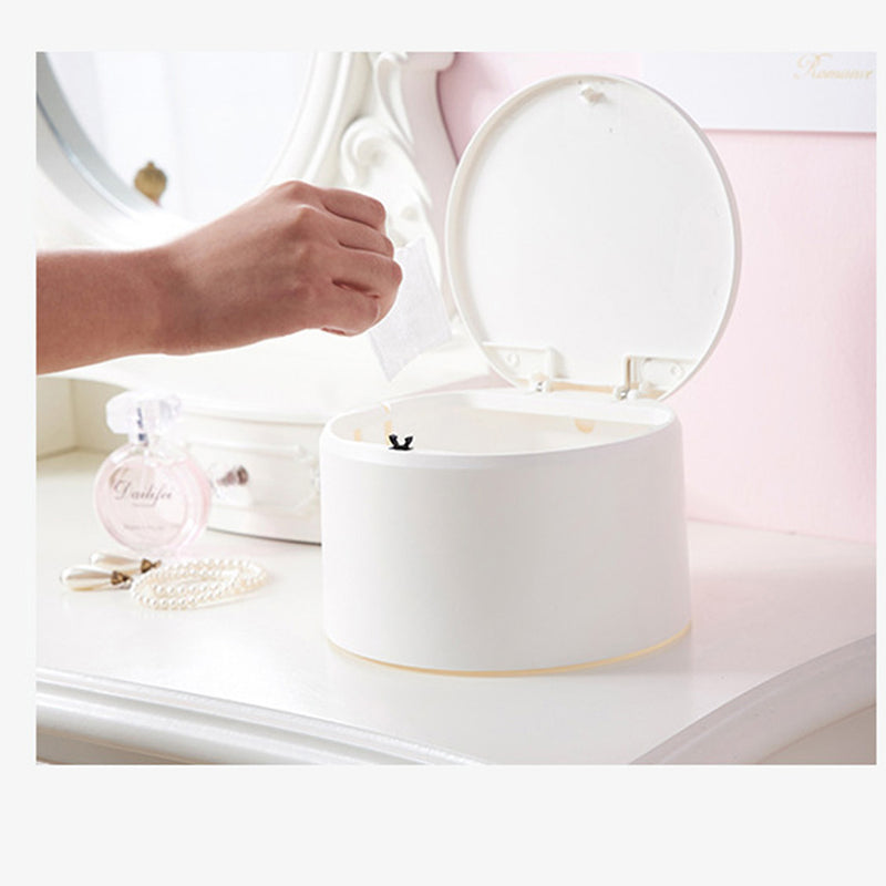 Desktop Trash Can with Press Lid - Jance Samantha Beauty & Fashion