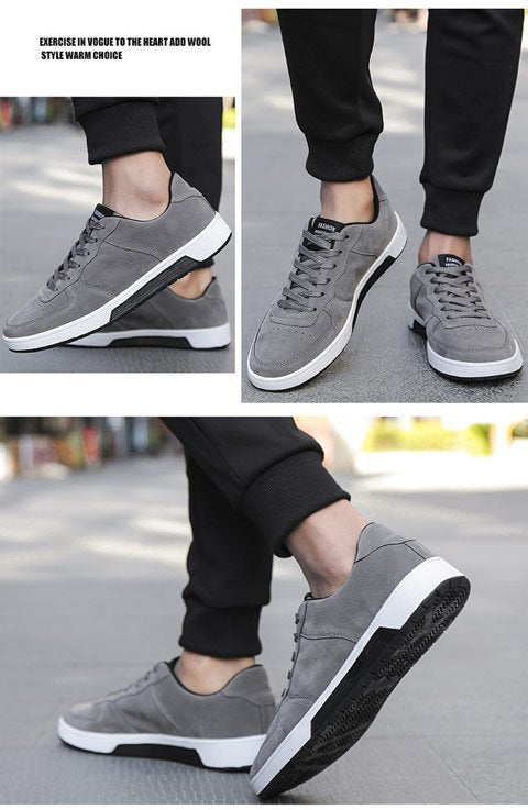 Classic Male Lace Up Flats Comfortable Sneakers - Jance Samantha Beauty & Fashion