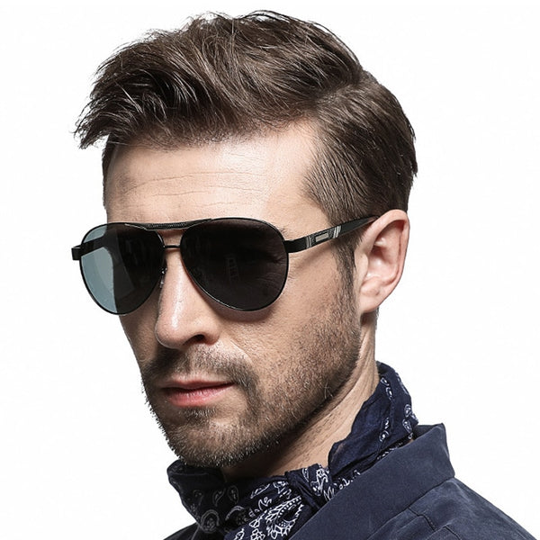 Pilot Polarized Men Sun Glasses - Jance Samantha Beauty & Fashion