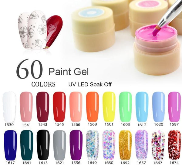 Solid Colors Nail Art Designs Soak Off Paint Gel - Jance Samantha Beauty & Fashion