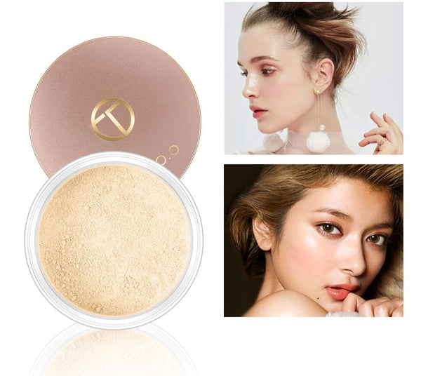 Smooth Matte Loose Transparent Finishing Powder With Cosmetic Puff - Jance Samantha Beauty & Fashion