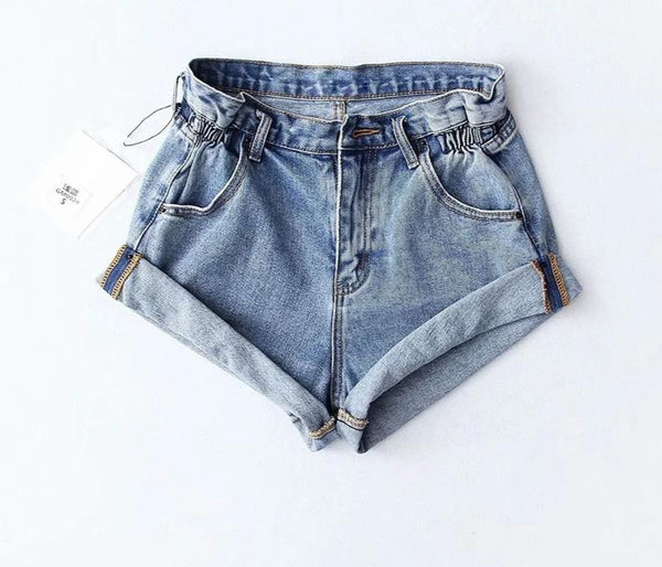 Casual Denim High Waist Shorts - Jance Samantha Beauty & Fashion