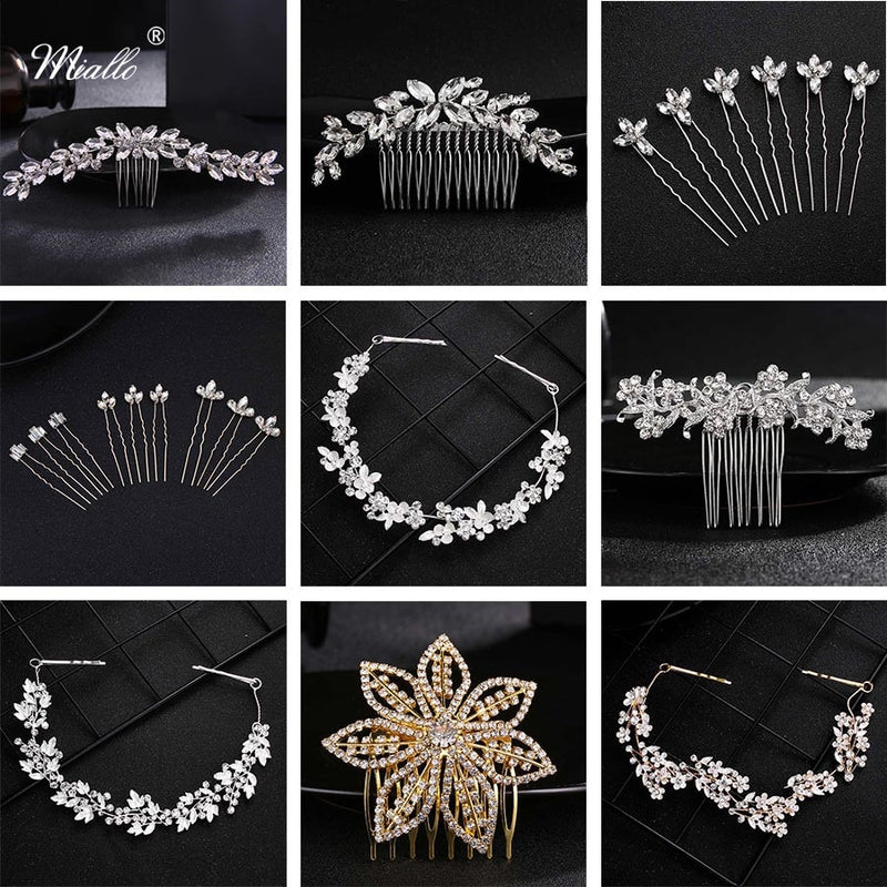 Hair Comb Clip Bridal Rhinestone Hairpins Accessories - Jance Samantha Beauty & Fashion