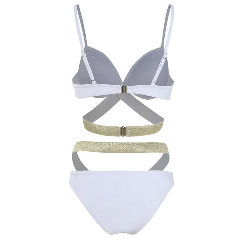 Flash High Waist Bandage Bikini - Jance Samantha Beauty & Fashion