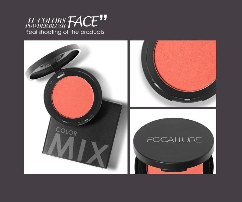 11 Colors Face Mineral Pigment Blusher Blush Powder - Jance Samantha Beauty & Fashion