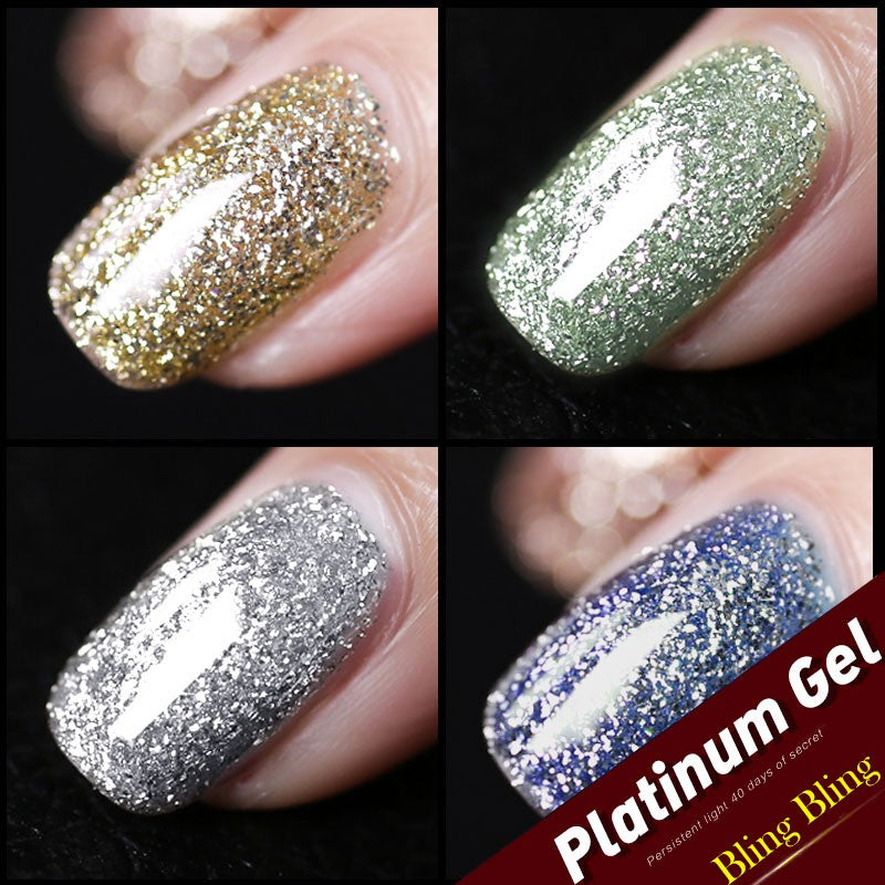 Starry Platinum Enamel Gel Polish - Jance Samantha Beauty & Fashion