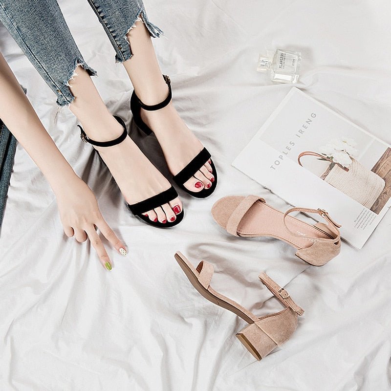 Office Buckle Strap Pumps Casual Sandals - Jance Samantha Beauty & Fashion