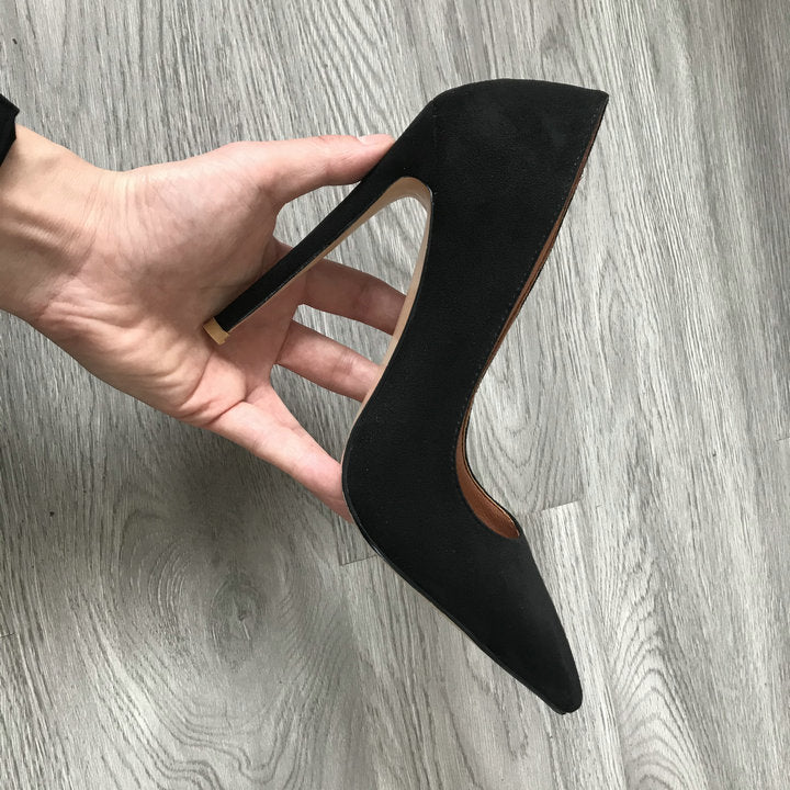 Suede Super High Heels Fetish Fashion Woman Pointed Toe Spike Heels - Jance Samantha Beauty & Fashion