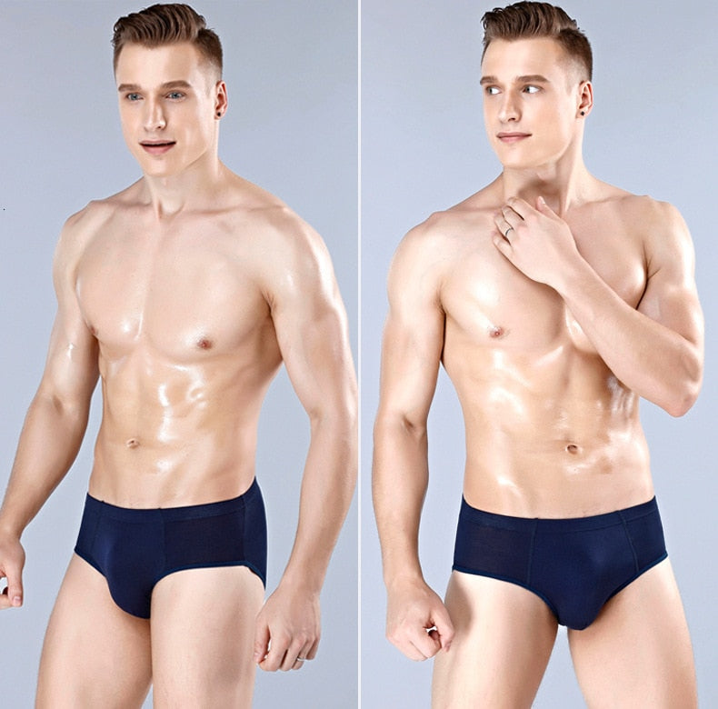 High Quality Solid Breathable Men Briefs - Jance Samantha Beauty & Fashion