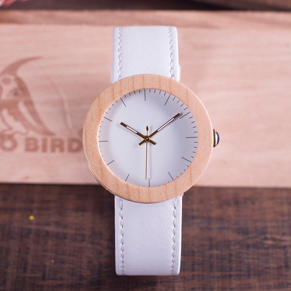 Wooden Timepieces Quartz Watch With Wooden Gift Box - Jance Samantha Beauty & Fashion
