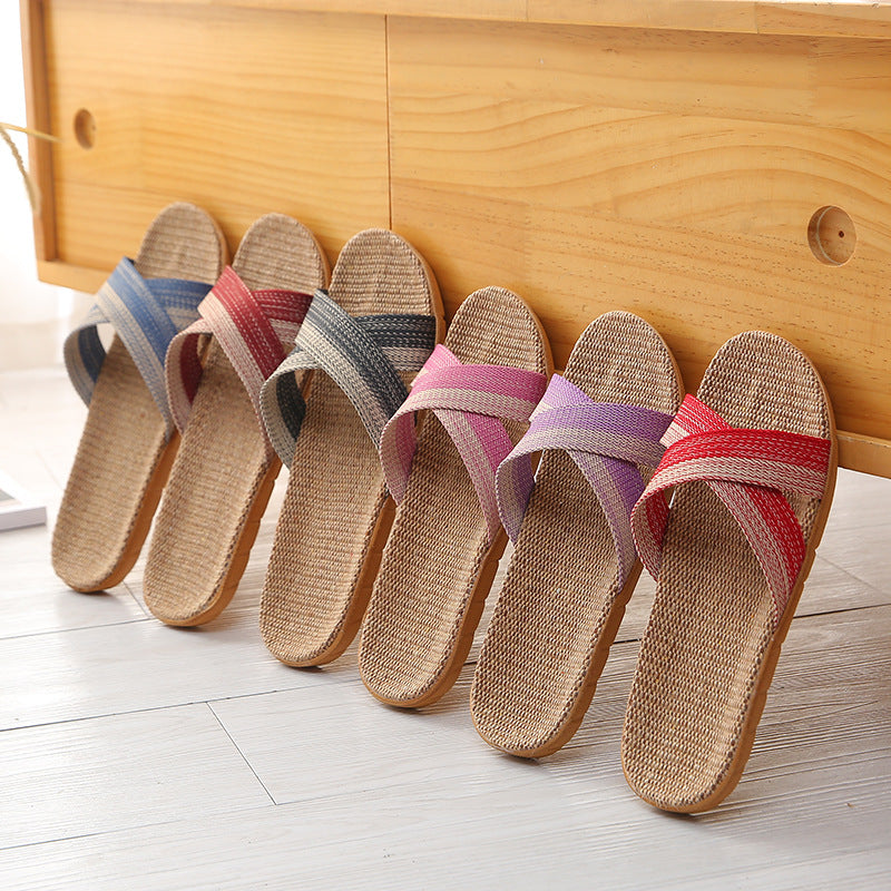 Cross Belt Indoor Slippers - Jance Samantha Beauty & Fashion