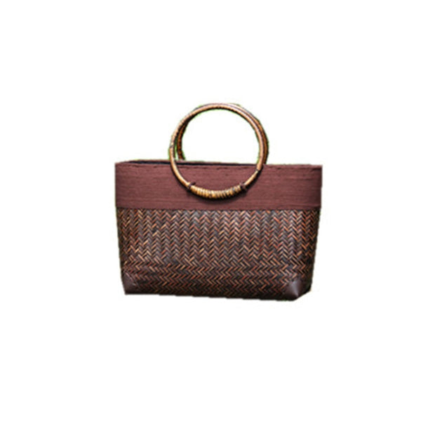 Handmade Retro Bamboo Rattan Fashion Handbag - Jance Samantha Beauty & Fashion