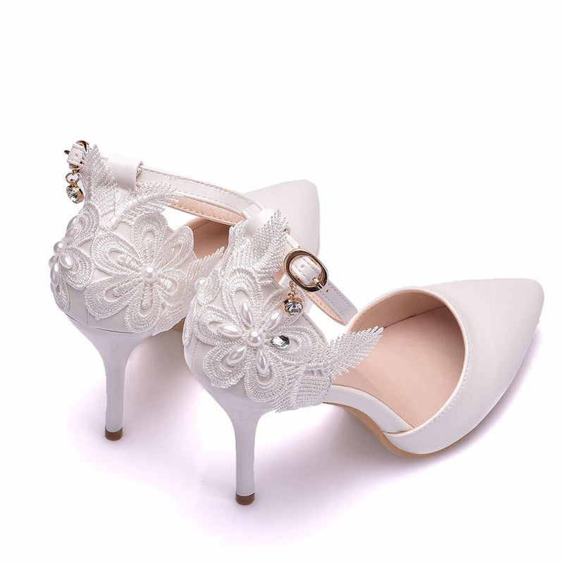 Banquet Bridal Pointed Sweet Wild Single Shoes - Jance Samantha Beauty & Fashion