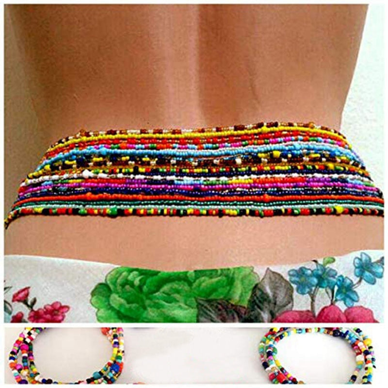 Bohemian Double Beaded Belly Chains - Jance Samantha Beauty & Fashion