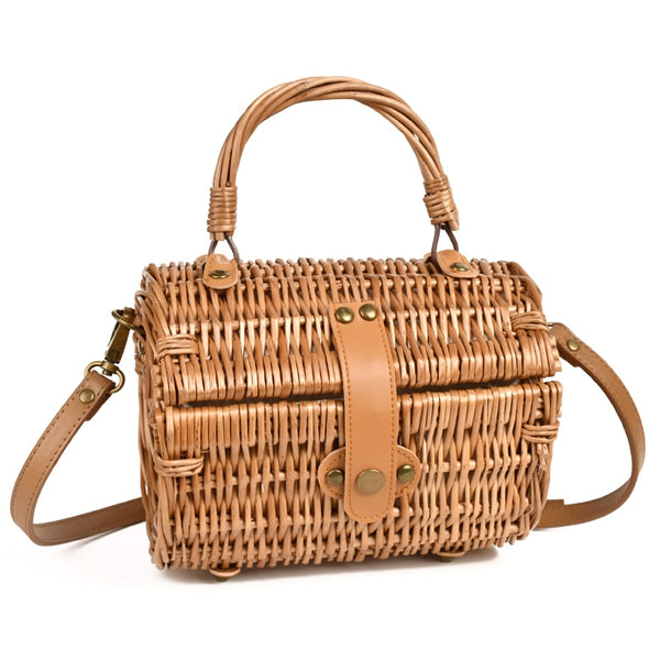 Bamboo Rattan Retro Simple Handbag - Jance Samantha Beauty & Fashion
