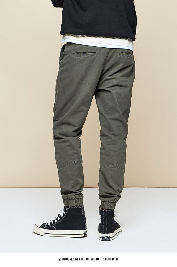 Embroidery Army Green Men Streetwear Sweatpant - Jance Samantha Beauty & Fashion