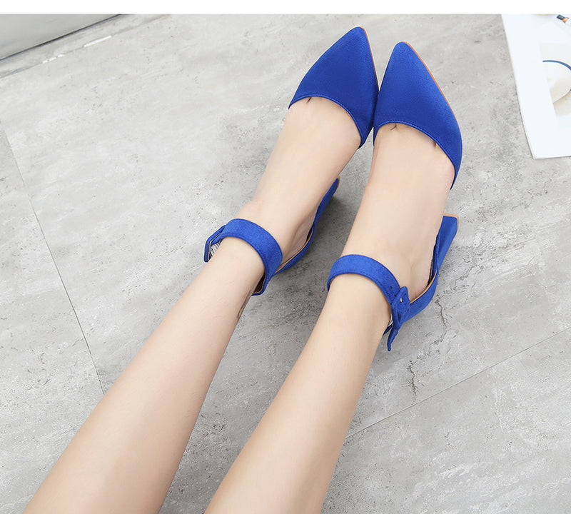 Flock Pumps Fashion Shoes - Jance Samantha Beauty & Fashion