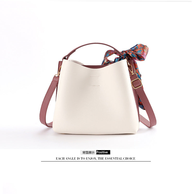 Fashion Bow Shoulder Bucket Bag - Jance Samantha Beauty & Fashion