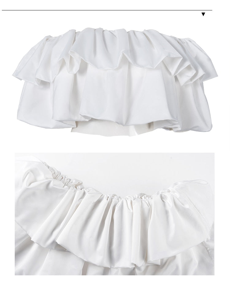 Off Shoulder Crop Tops - Jance Samantha Beauty & Fashion