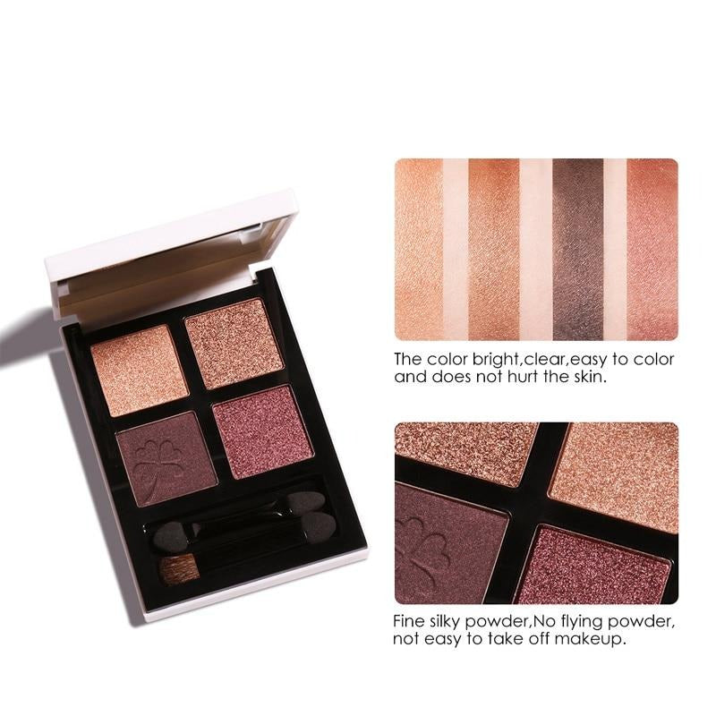 Brand New 4 Colors Glitter Eyeshadow Palette - Jance Samantha Beauty & Fashion