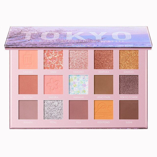 TOKYO Eye Shadow Palette Silky Pigment Makeup 15 Colors Shades of Palette - Jance Samantha Beauty & Fashion