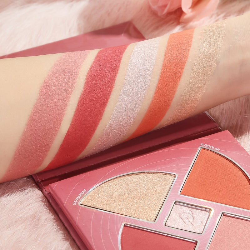 Blush and Highlighter Palette - Jance Samantha Beauty & Fashion