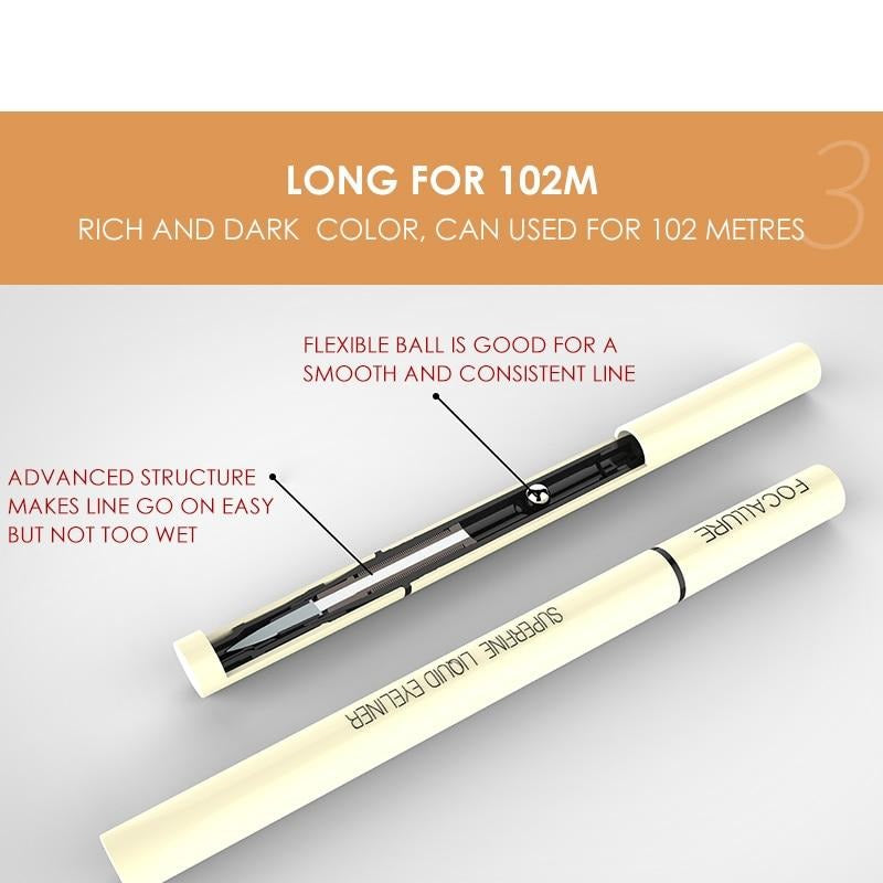 Liquid Waterproof  24 hours Long Lasting Smooth Superfine Eye Liner Pen - Jance Samantha Beauty & Fashion