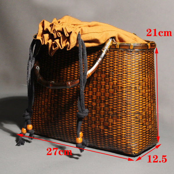 Retro Bamboo Woven Bag High Quality Handmade Tote - Jance Samantha Beauty & Fashion