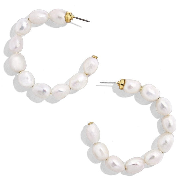 Boho Trendy Pearls Ear Cuff Earring - Jance Samantha Beauty & Fashion