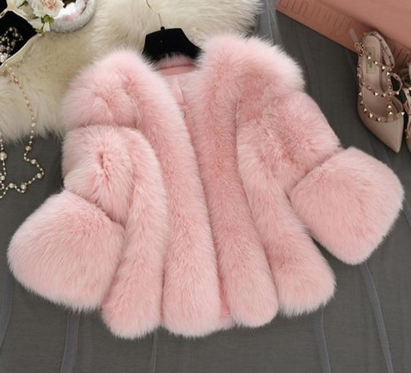 High Quality Faux Fur Basic Jacket Coat - Jance Samantha Beauty & Fashion