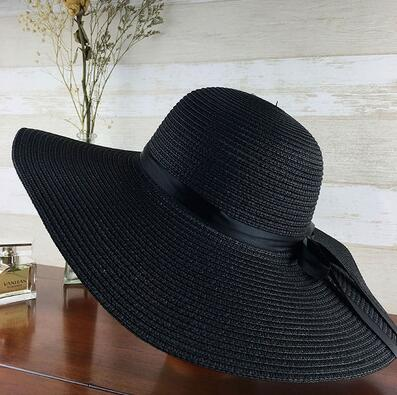 Foldable Wide Brim Floppy Girls Straw Sun Hat - Jance Samantha Beauty & Fashion