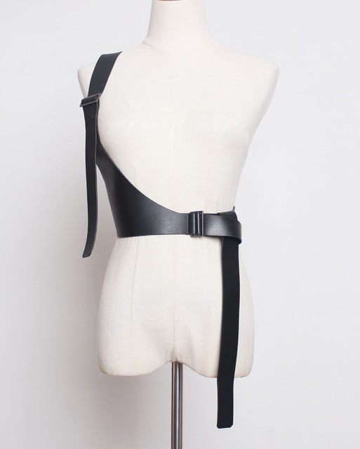 Pu Leather Strap Belt Brief Irregular Personality Girdle - Jance Samantha Beauty & Fashion