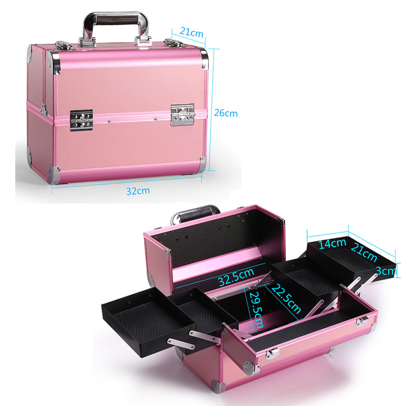 Portable Professional Cosmetic Bag - Jance Samantha Beauty & Fashion