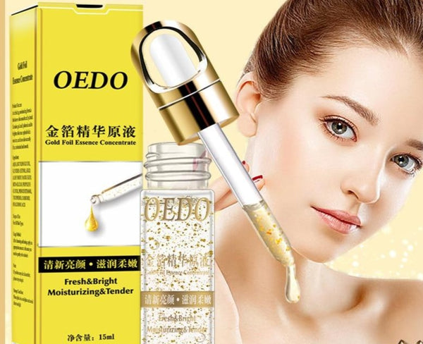Shrink Pores Gold Hyaluronic Acid liquid Moisturizing Face Serum - Jance Samantha Beauty & Fashion