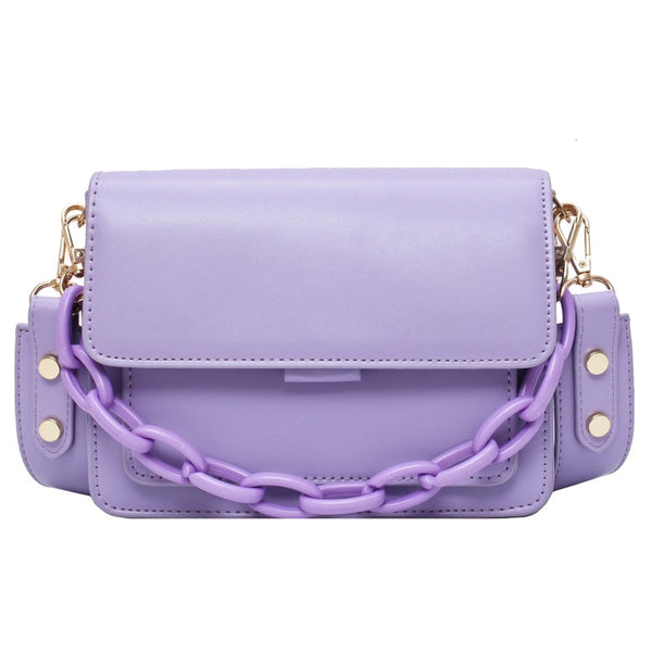 Chain Design New Mini PU Leather Flap Bags - Jance Samantha Beauty & Fashion
