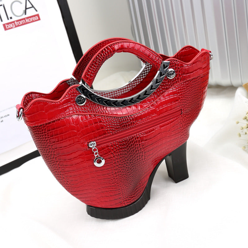 High Quality High Heels Shoulder Leather Crossbody Bags - Jance Samantha Beauty & Fashion