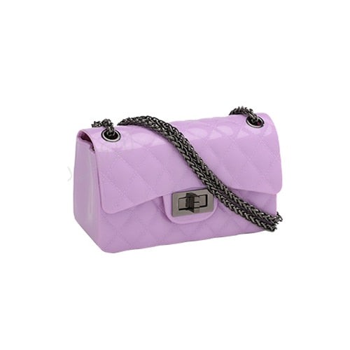 Women Designer Brand Crossbody Bags Sweet Silicone Jelly Candy Color - Jance Samantha Beauty & Fashion
